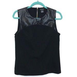 Club Monaco Marjory Black Leather Structur…